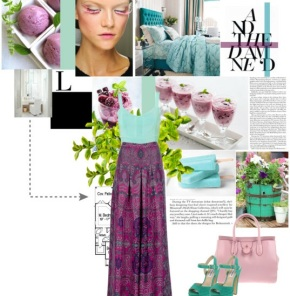 Dreamy Colors and a Long Skirt!